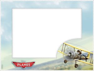 Old Airplane Picture Frame with Leadbottom Character