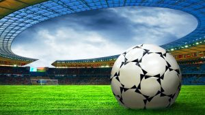 Pictures of Soccer Balls on Stadium Grass for Wallpaper