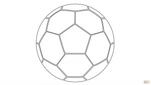 Pictures of Soccer Balls to Color in 4K