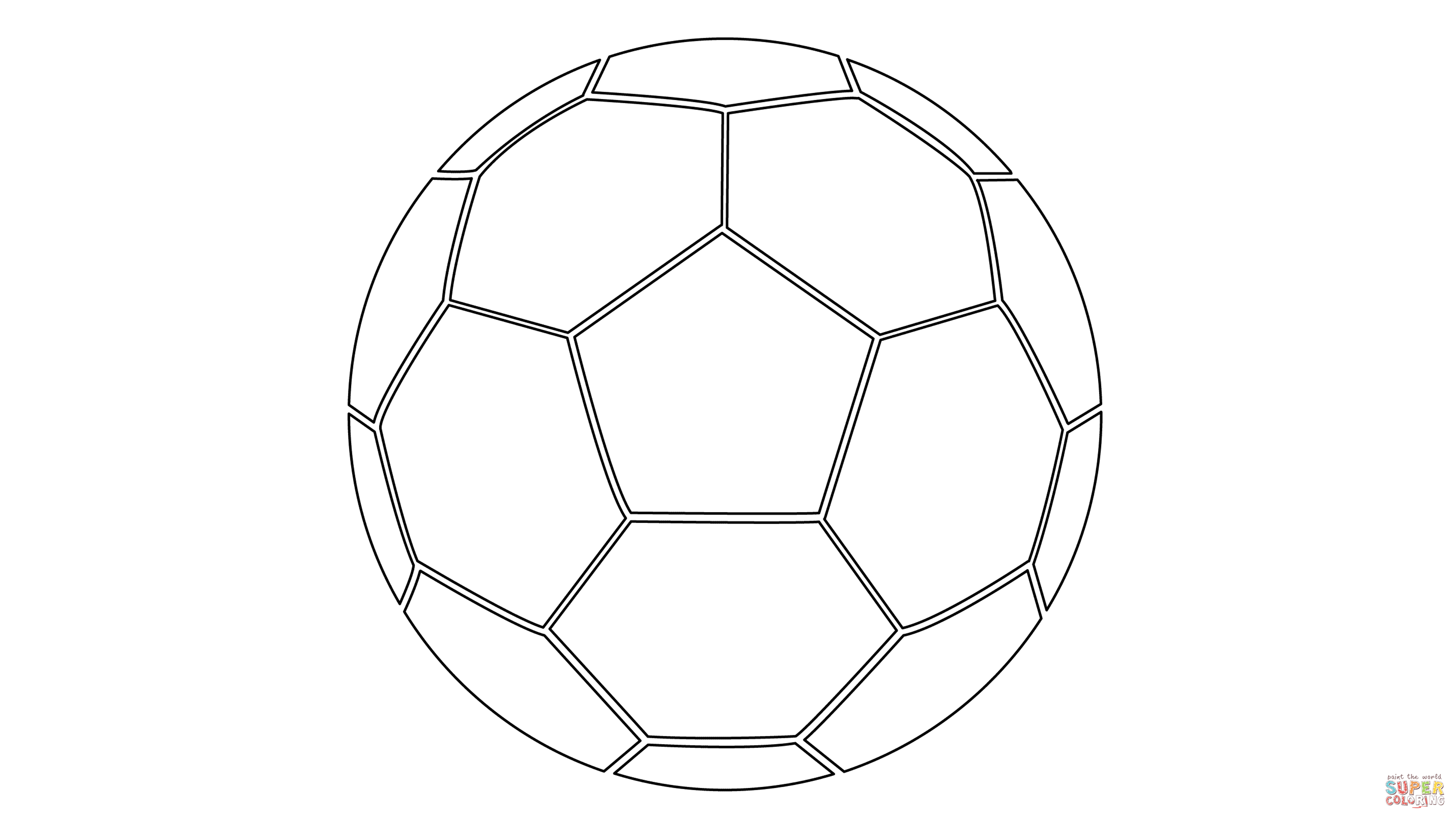 Pictures Of Soccer Balls To Color