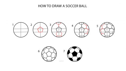 Pictures of Soccer Balls to Draw