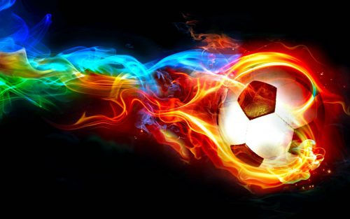 Pictures of Soccer Balls with Flames