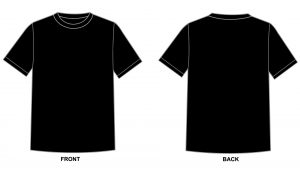 Blank tshirt template black