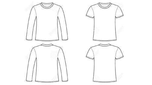 Blank tshirt template clip art