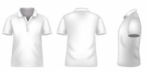 Blank tshirt template for photoshop in white
