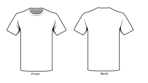 Blank tshirt template front back side