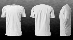 Realistic blank tshirt template