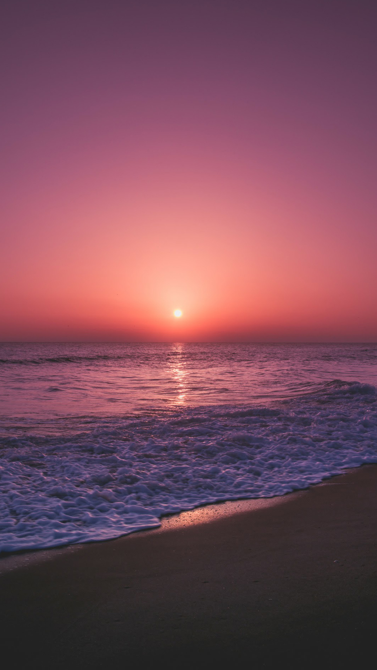 screensaver for iphone 7 (3) with sunset in beach - hd wallpapers