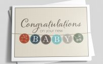 Baby Shower Congratulations Cards