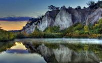 Full HD Nature Wallpaper 1080p for Desktop with River and Hill Photo