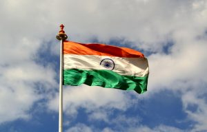 India flag wallpaper for independence day download - fluttering on the sky