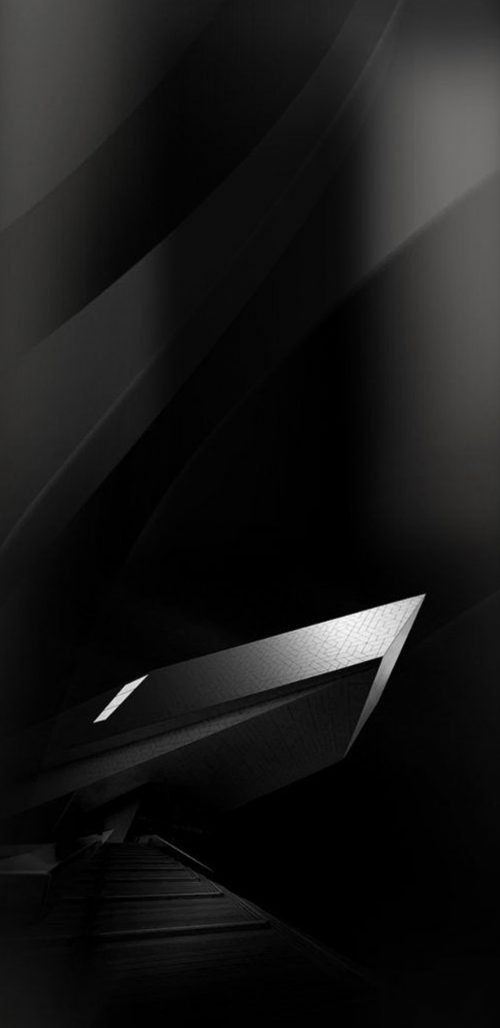 Samsung Galaxy S8 Wallpaper Black and Silver 3D