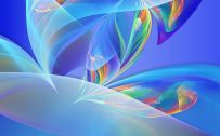 Wallpaper Full HD for Mobile with Abstract Colorful Object