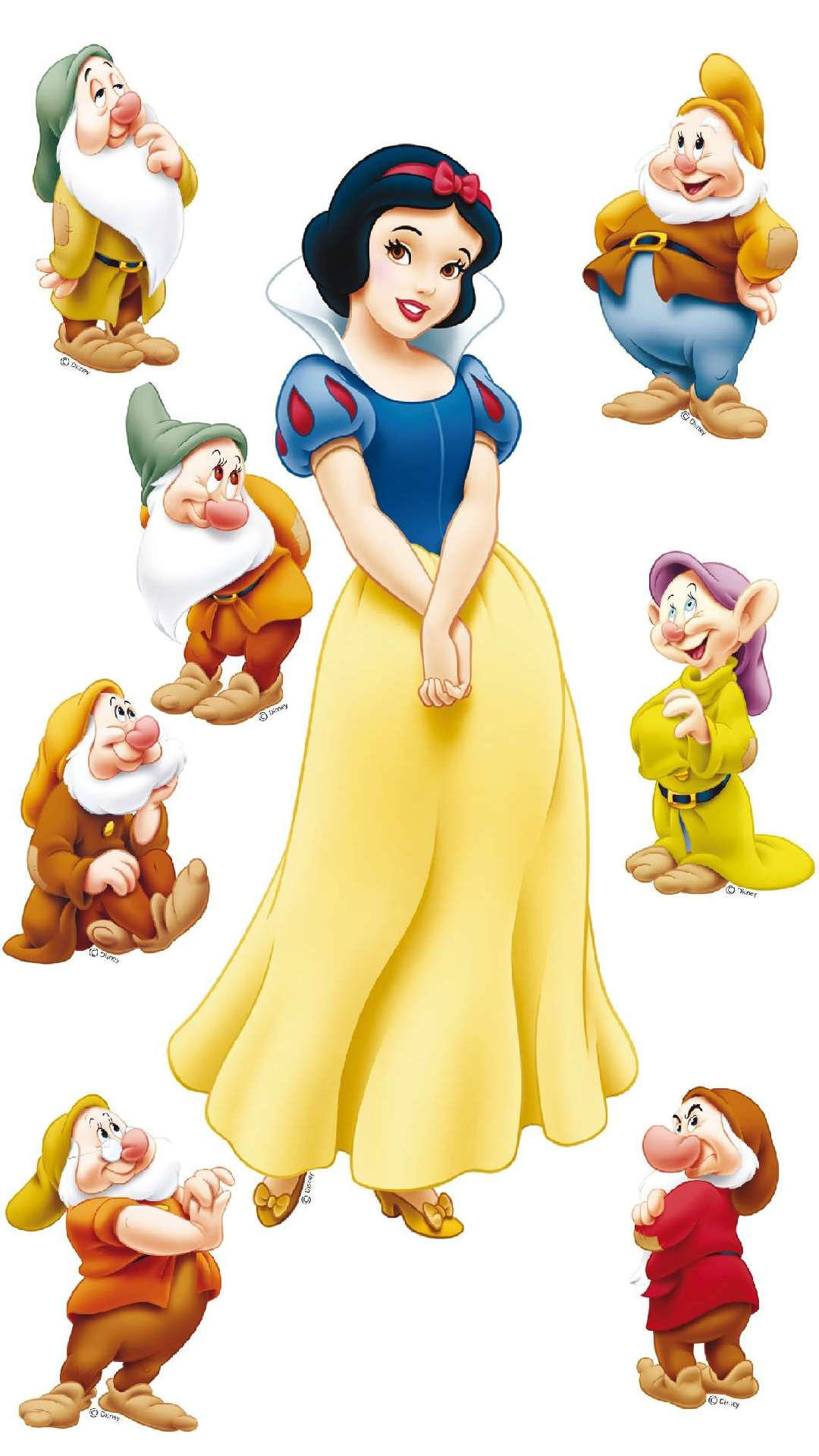 A Picture Of Snow White And The Seven Dwarfs For Android