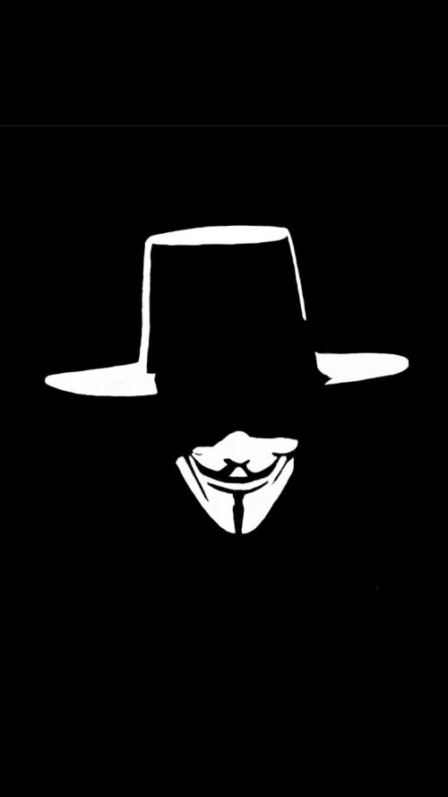 Cool IPhone 6s Wallpaper With Anonymous Mask In Dark
