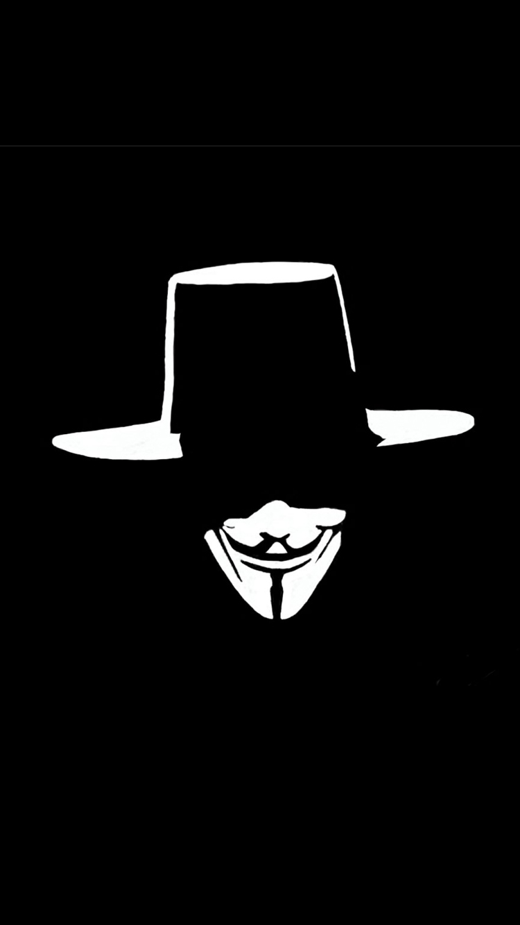 Cool Iphone 6s Wallpaper With Anonymous Mask Hd