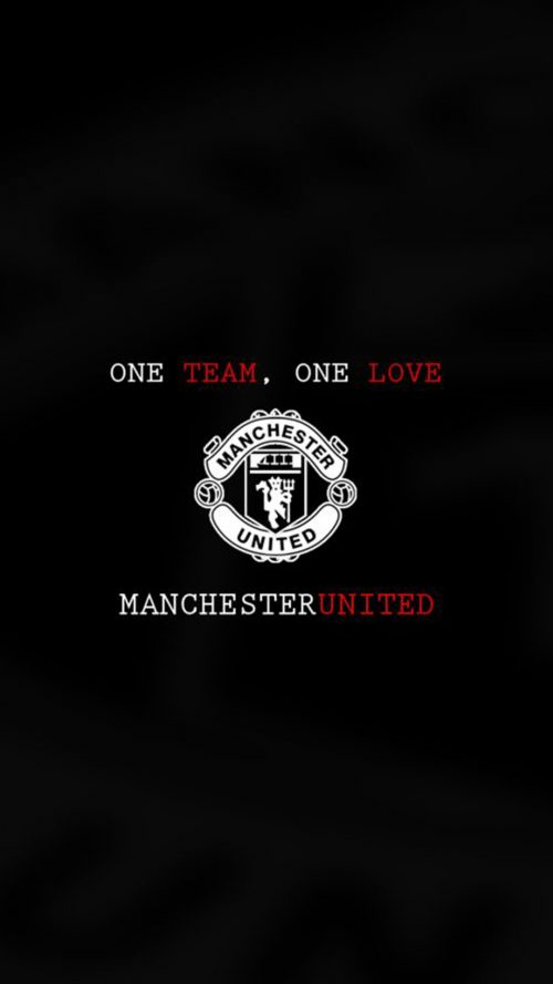 Apple iPhone 7 Plus HD Wallpaper - Manchester United in Black