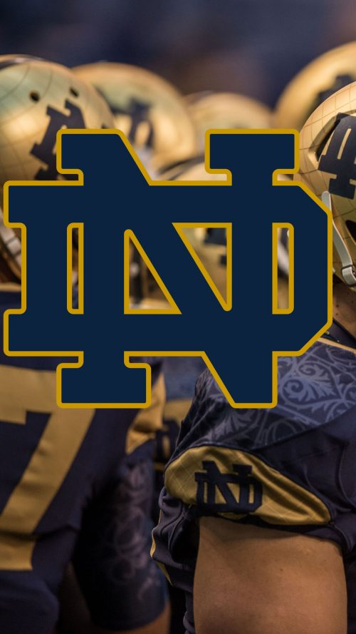 Notre Dame Fighting Irish Wallpaper for Android with Logo
