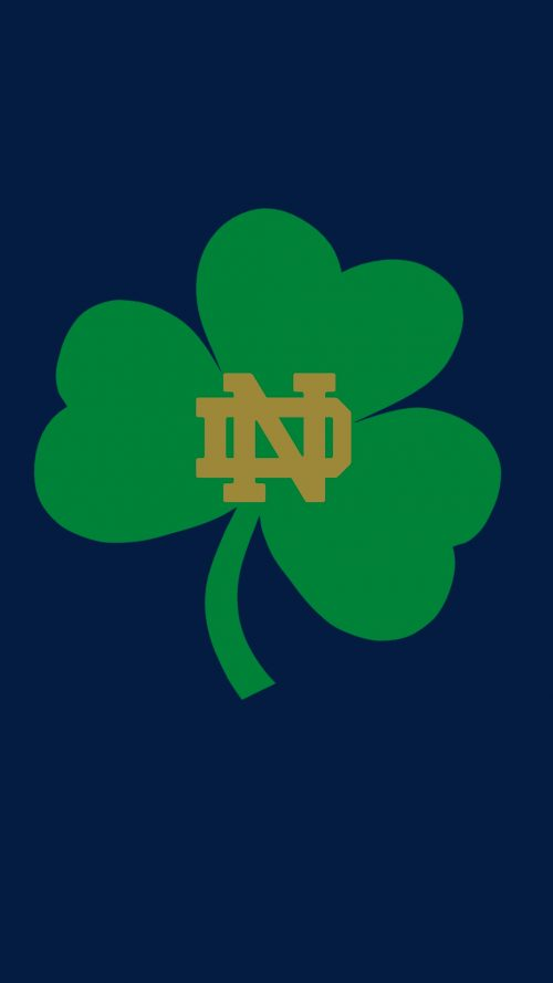 Notre Dame Fighting Irish Wallpaper with Shamrock Logo