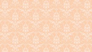 Peach Color Wallpaper for Damask Pattern