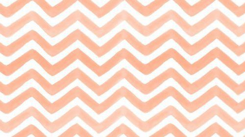Peach and White Chevron Pattern for Wallpaper