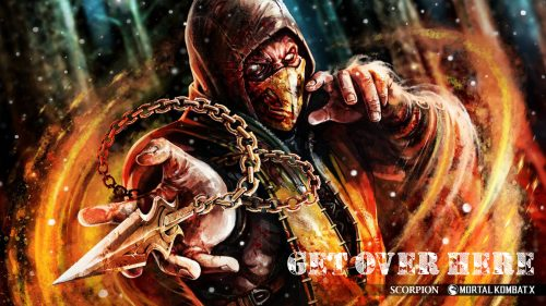 Pictures of Scorpion from Mortal Kombat Get Over Here