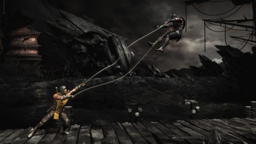 Pictures of Scorpion from Mortal Kombat with Gameplay Screenshot