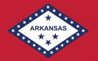 State Flags of The United States of America with Flag State of Arkansas