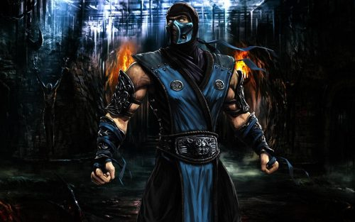 Wallpaper with Pictures of Scorpion from Mortal Kombat