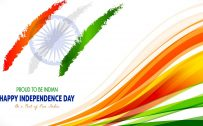 15th August Indian Independence Day Wallpaper with Tricolor India Flag