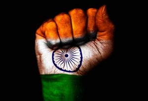 Attachment to download for Flags of Countries - animated Three colors as Flags of India Symbol in hand