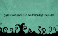 Laptop Backgrounds with Quotes in Black and Tosca