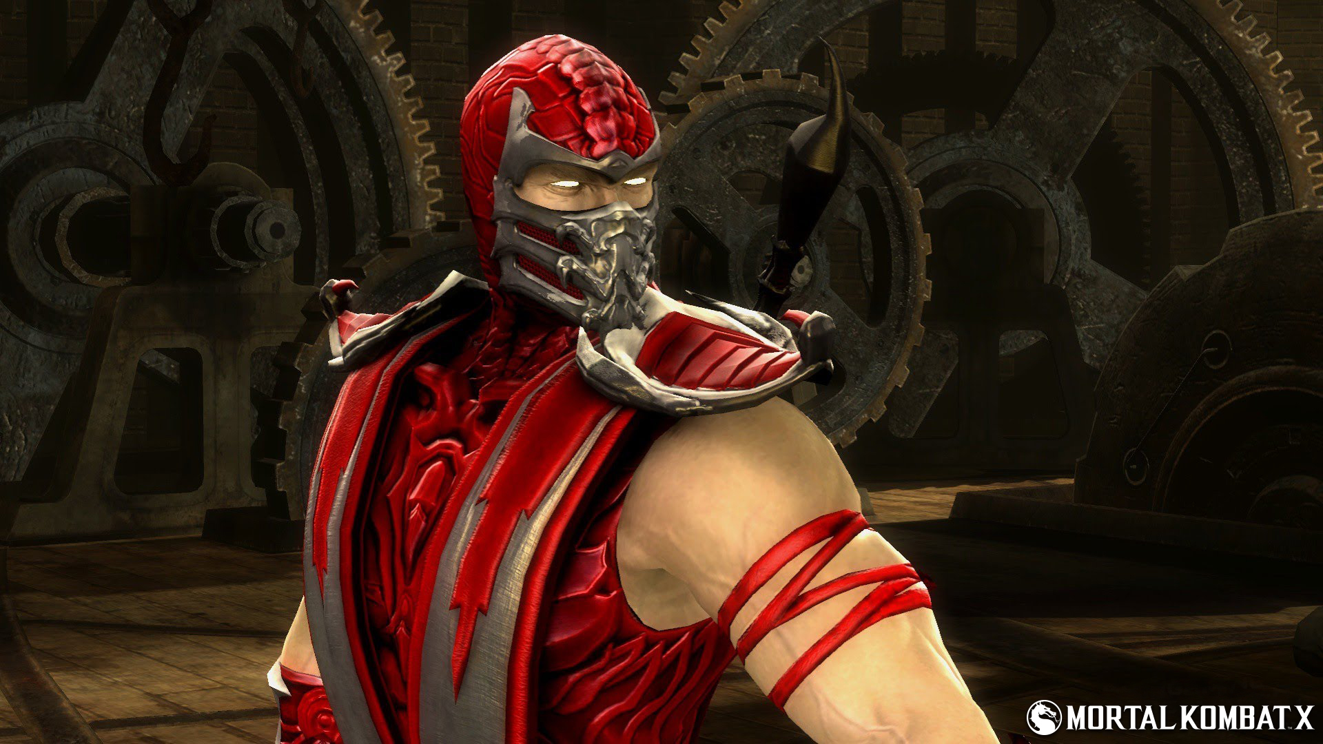 Images Of Scorpion From Mortal Kombat For Wallpaper: Red Skin Scorpion Mortal Kombat Costume Picture