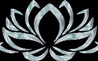 Silver Lotus Flower Symbol for Wallpaper