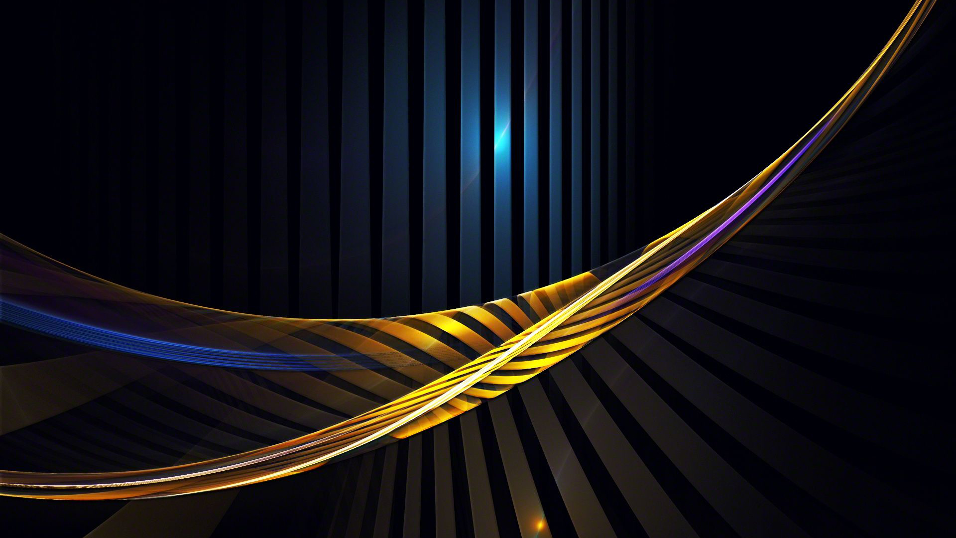 Art In Lines : Abstract art using lines in yellow and dark hd