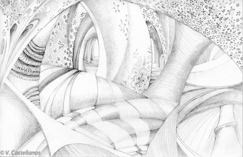 Abstract Art Using Pencil 09 0f 10 by Castellanos