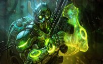 Badass PC Wallpaper with StarCraft II Video Game Poster