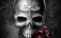 Badass Wallpapers For Android 03 0f 40 Dark Skull and Rose