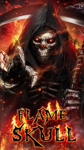 Badass Wallpapers For Android 05 0f 40 Grim Reaper Flame Skull