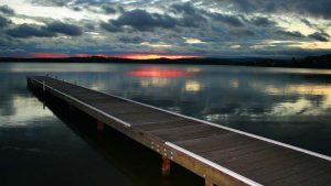 Beautiful Nature Wallpaper Big Size #09 with Pier on Lake