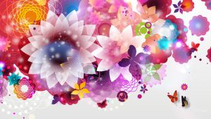 Bright Floral Wallpaper For Walls