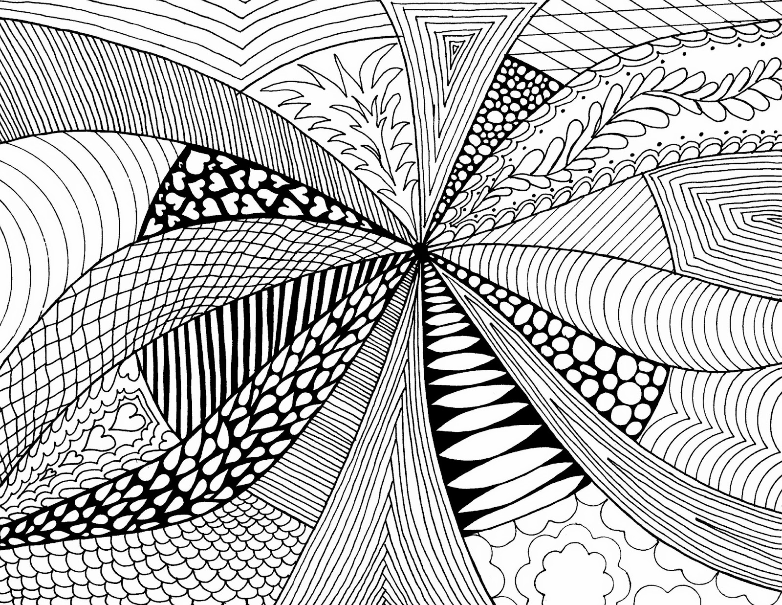 Line Art Work : Examples of abstract art drawings in simple design hd