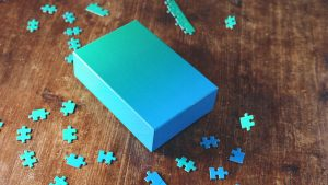 HD Wallpaper with Abstract Art Jigsaw Puzzles and Box
