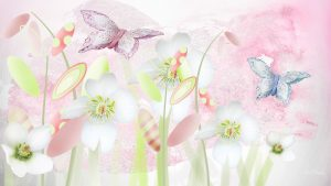 Pastel Coloured Floral Wallpaper