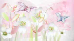 Pastel Coloured Floral Wallpaper