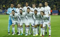 Real Madrid Squad 2015-2016 Starting-Eleven Players Wallpaper