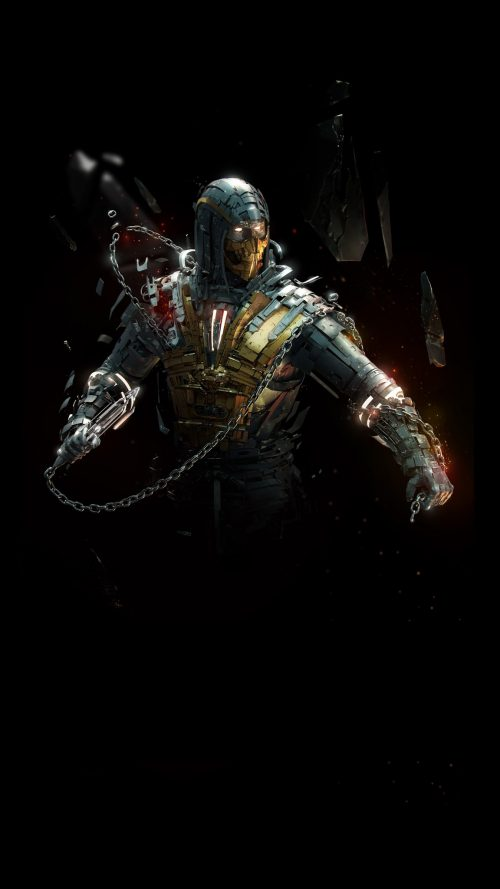 Badass Wallpapers For Android 40 0f 40 - The Scorpion from Mortal Kombat