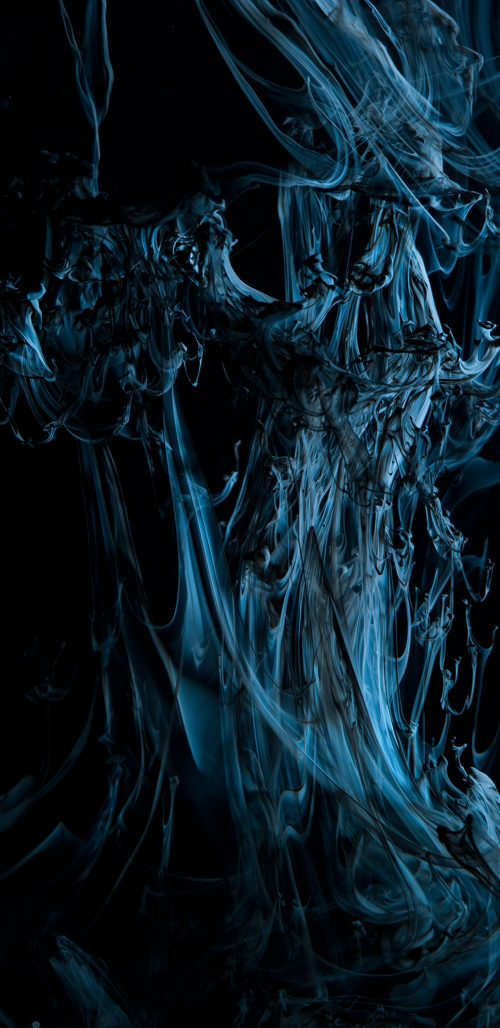 Examples of Abstract Art Wallpaper for Samsung Galaxy Note 8 with Animated Smoke in Blue