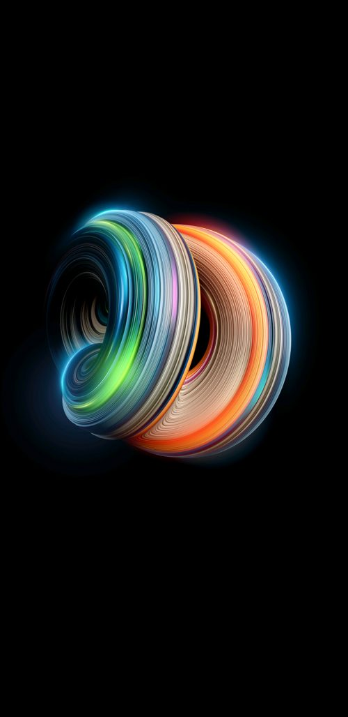 Examples of Abstract Art Wallpaper for Samsung Galaxy Note 8 with Colorful 3D Light