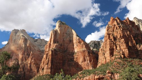 Full HD Nature Wallpaper with Zion Court of the Patriarchs